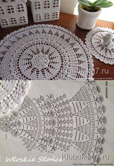 Pattern Only, No Info About Diameter - Diy Crafts - knittingo Free Crochet Doily Patterns, Crochet Doily Diagram, Crochet Circles, Filet Crochet, Crochet Motif, Crochet Designs, Knitting Patterns, Crochet Table Runner, Crochet Tablecloth