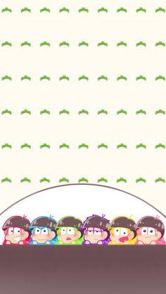 おそ松さん29/かわいい六つ子 iPhone壁紙 Wallpaper Backgrounds iPhone6/6S and