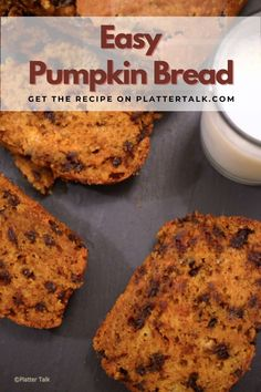 Try this easy pumpkin sweet bread today. Visit Platter Talk for and follow all of our boards for more great recipes!