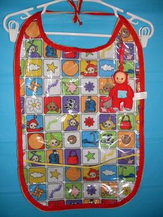 Teletubbies AB/DL Bib Vintage Material and Supple by Buzzyshelper