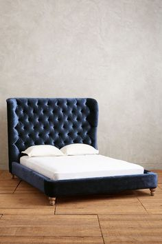 Velvet Tufted Wingback Bed #anthrofave Yes THIS. But In Emerald Or Violet  Or Sapphire