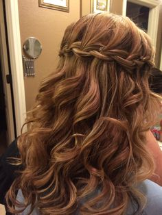 Hair Design! Waterfall Braid