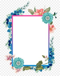 hand painted beautiful borders, Hand-drawn Border, Summer Border, Blue Borders PNG and PSD Flower Background Wallpaper, Framed Wallpaper, Frame Background, Flower Backgrounds, Wallpaper Backgrounds, Art Floral, Frame Floral, Flower Frame, Floral Design
