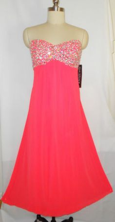 Plus Size Dress Neon Coral Quince Formal Evening Gown Torrid Gift 20W | eBay