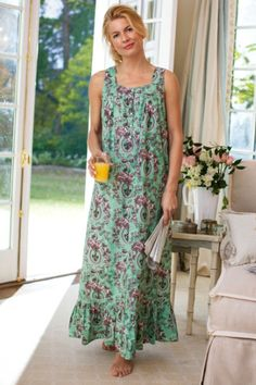 Sweet Dreams Nightgown - Rose Print Nightgown, Floral Cotton Nightgown | Soft Surroundings