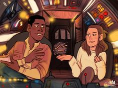 Commissioned by ! � Finn is helping his lovely copilot refuel during a long spaceflight! This is for the Force/Pilots FinnRey Friday theme Dope Cartoons, Dope Cartoon Art, Finn Star Wars, Star Wars Art, Star Trek, Star Wars Vehicles, Star Wars Ships, Star War 3, Interracial Love