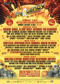 Line Up - Frequency 2016 - St. Fat Freddy's Drop, Parkway Drive, The Lumineers, G Eazy, Festival 2016, Concerts, Festivals, Up, Music