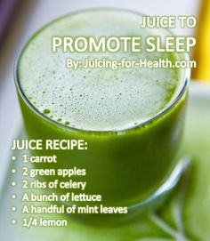 Juice to promote sleep