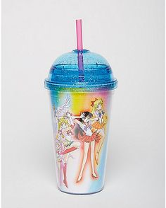 Sailor Moon Cup With Dome Lid - 16 oz. - Spencer's