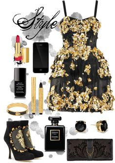 """gold"" by yaelg ❤ liked on Polyvore"