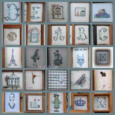 Eefs Needle: Casier d'imprimeur/ letterbak. borduren
