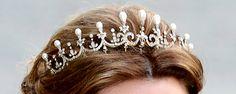 pearl and diamond tiara + Ada Amelia Adaine