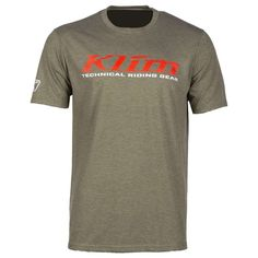 T-Shirt Klim K Corp SS T Military Green-High Risk Red Military Green, Logos, High Risk, Casual, Mens Tops, Cotton, T Shirt, Motorcycle Accessories, Red