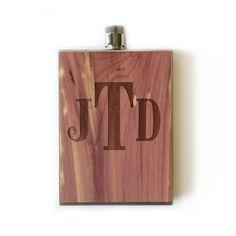 Custom Wood Groomsmen Flask