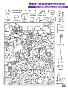 hidden pictures coloring page highlights hidden picture find printable ...