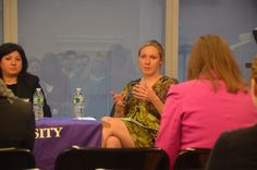 NYU SHRM Navigating Office Politics panelists, from left: Annemarie DiGiacomo (Deloitte & NYU M.S. HRMD alumna) Lindsy Noble (Chobani, Independent Executive Coach & NYU HRMD Graduate Student). Photo by Stacie Zhang