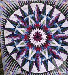 Amazon Star, Quiltworx.com, Made by Kate Hurlbert, Quilted by Ardelle Kerr of Rose City Quilter