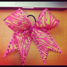 pink and green zebra bedazzled