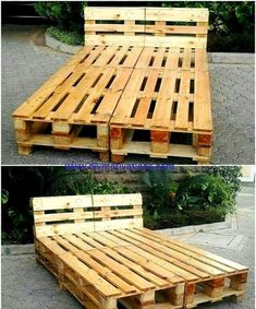 Utilizing the wooden pallet has many ways, one of the best way is to make things out of the wooden pallet and then use them in your home. Utilizing the wooden pallet and making things out of it is an easy task, all you need to do is take ideas from d Reclaimed Wood Furniture, Diy Pallet Furniture, Diy Furniture Projects, Diy Projects, Wooden Pallet Projects, Wooden Pallets, Pallet Ideas, Wooden Rack, Wooden Diy