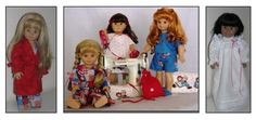 """Dolly's Wardrobe ~ A Compilation of All Occasion Sewing Patterns for 18"""" Dolls ~ - http://www.doll-clothing-patterns.com/wp-content/uploads/2011/06/Dollys-Wardrobe.pdf"""