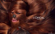 MEME HIJACKING: LÓreal jumps on the meme around the release of Star Wars 7 with hairy wookie Chewbacca Star Wars Meme, Star Wars Film, Star Wars 2, Chewbacca, Harrison Ford, Saga, Jeaniene Frost, Princesa Leia, Star Wars Wallpaper