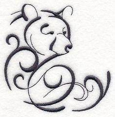 Machine Embroidery Designs at Embroidery Library! Mama Tattoos, Dog Tattoos, Animal Tattoos, Body Art Tattoos, Tatoos, Anklet Tattoos, Teddy Bear Tattoos, Polar Bear Tattoo, Tribal Bear Tattoo