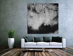 Abstraktes Actrylbild schwarz/weiß 150x150cm von xxl-art.de