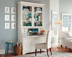 secretary desk white | my absolute dream desk i love everything about this desk it has all ...