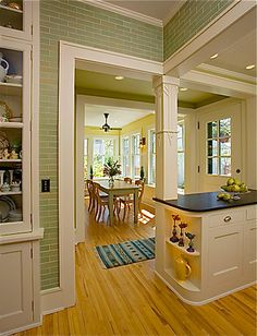 Love the subway tiles and would love to see the rest of this kitchen.