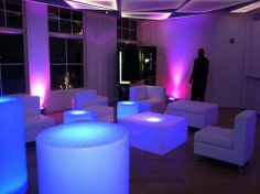 Furniture with light under tables.  Lounge Furniture Rentals Chrisoxcom