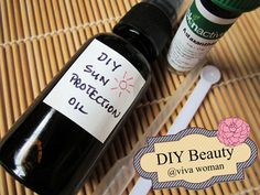 A DIY sun protection oil using just 2 ingredients.
