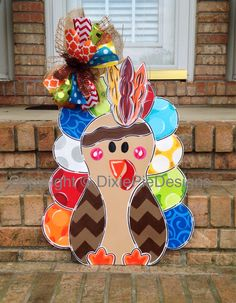 Turkey Door Hanger Thanksgiving Door Hanger by dixiepiedesigns Fall Crafts, Holiday Crafts, Holiday Fun, Diy Crafts, Wood Crafts, Fall Door Hangers, Burlap Door Hangers, Thanksgiving Wreaths, Thanksgiving Decorations