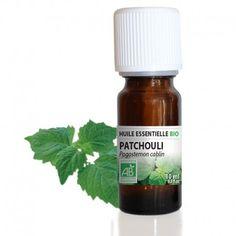 Le Patchouli, très utilisé dans les parfums et les déodorants par les « hippies » dans les années 60, est un puissant aphrodisiaque. Il remonte le moral, relaxe et stimule le désir. Raffermissant, il aide à la régénération des cellules, ce qui le rend efficace sur les peaux matures. Purifiant, il est aussi utilsé pour les peaux grasses, à problèmes ainsi que pour lutter contre les pellicules.