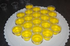 Lemon drop jello shot (am suddenly obsessed with these) lots of great ideas on this page!