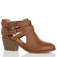 Cross Strap Ankle Boots - Girls