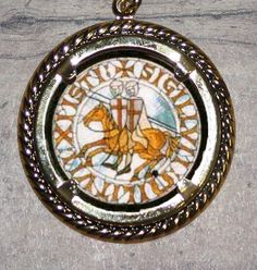 Knights Templar Frame Pendant by FunckLoveDesigns on Etsy, $11.00