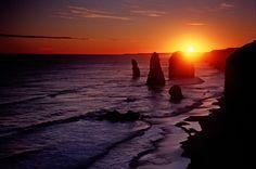 Best sunset and most brilliant stars seen here - 12 Apostles, Victoria, Australia