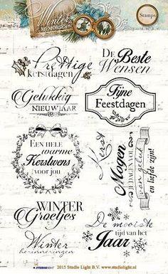 Studio Light serie:  ---Winter Memories---  Bijpassende Stempels met Nederlandse tekst.