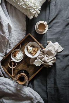 Baked Oatmeal for breakfast in bed | Two Red Bowls | west elm