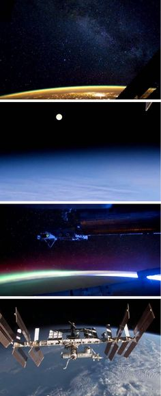 The International Space Station (ISS) provides a unique vantage point to view our home planet.