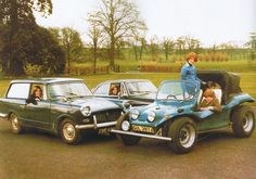 Diana & her sisters & brother in their cars at Althorp