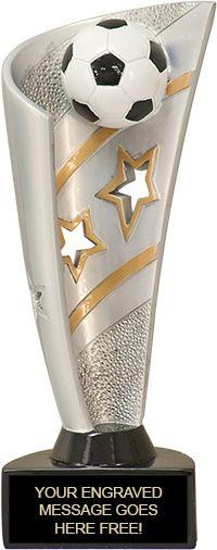 Soccer Banner Resin 3D Sport Trophy