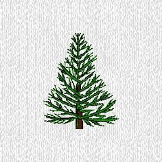 Evergreen Trees Embroidery | Accent Embroidery embroidered flower trees plants designs 7