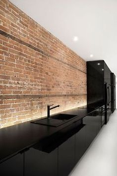 badass all black kitchen!