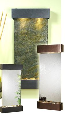 View the entire collection of wall mounted, freestanding, and tabletop water features at Water Feature Supply Interior Design Projects, Water Wall Fountain, Slate Wall, Wall, Outdoor Walls, Table Top, Salon Decor, Bamboo Wall, Water Walls
