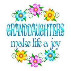 Granddaughter Sayings | granddaughter_joy_greeting_card.jpg?height=250&width=250&padToSquare ...