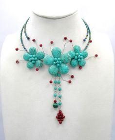 flower necklacebridesmaid giftschoker necklace por audreyjewelry, $12.50