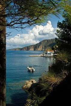 The harbour at Assos, Kefalonia