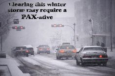 Winter Storm Pax.  Snow, Ice.  2014.  February.  Clearing this winter storm may require a PAX-ative.  America.  United States.  Southern states.  South.