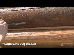 How to Finish a Log Home Step 4 - Caulking/Chinking - YouTube